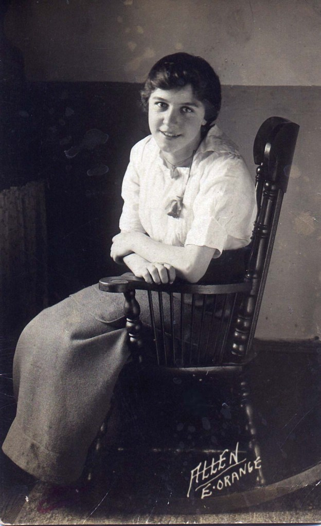 Image of my grandmother as a young woman in the early 1900s